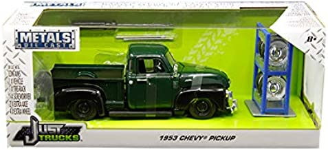 1953 Chevrolet 3100 Pickup Truck Green with Extra Wheels Just Trucks Series 1/24 Diecast Model Car by Jada 30521