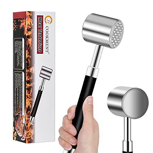 Meat Tenderizer Hammer,Mallet Tool,Pounder for Tenderizing Steak, Beef and Poultry. Heavy Duty Construction with Comfort Grip Handle - Dishwasher Safe by JY cookment