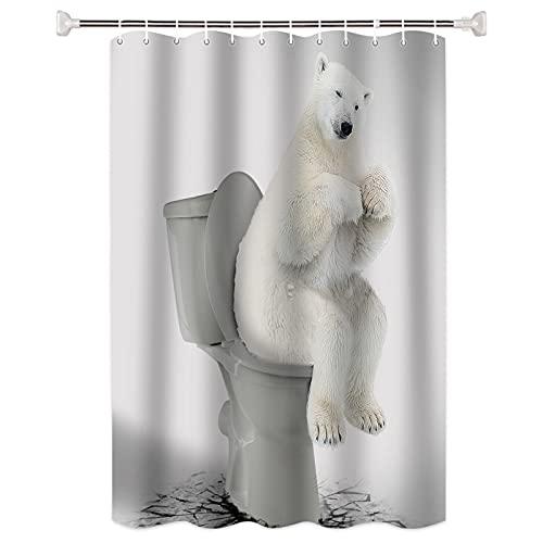 SUUZQK Pensando Animal Viento Cortina De Ducha Baño Partición Engrosada Impermeable Y Resistente Al Moho Cortina De Pantalla De Baño Enviar Gancho 168x183cm
