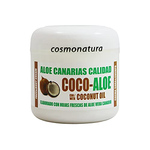 Aloe Canarias Crema Hidratante Corporal y Facial con Aceite de Coco y Aloe Vera 100% 300 ml