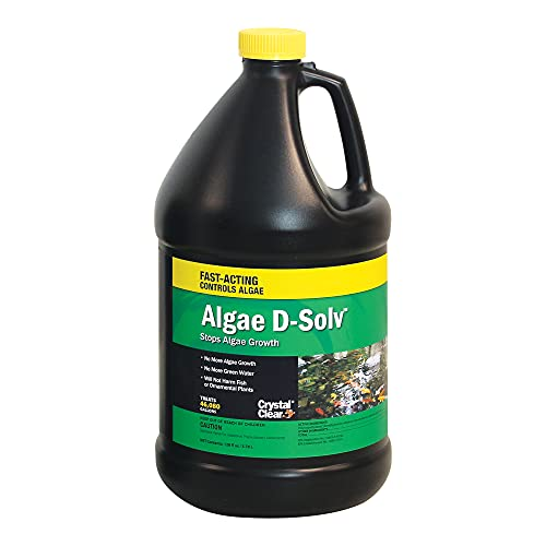 Crystal Clear Algae D-Solv - EPA Registered Algaecide - Safe for Fish and Plants: 1 Gallon Treats 46,080 Gallons
