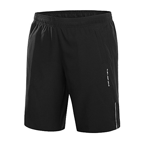 Bmeigo Sportshorts voor Heren Zomer Sneldrogende Shorts Ademend Casual Lichtgewicht Running Gym Training Korte Broeken met Ritszakken