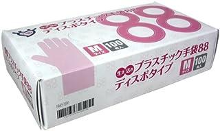 生き活きプラスチック手袋88 Mサイズ 100枚入 ×20箱(1ケース)