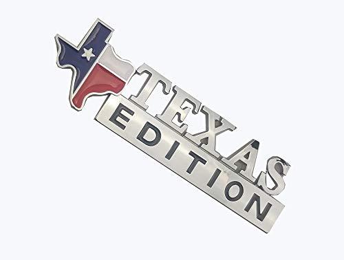 Decalship Adesivo di Ricambio per Auto con Stemma della Bandiera del Sate Texas Edition