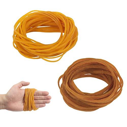 Matogle 250 Stück Gummibänder Haushalt Gummiringe breit elastische Mülleimer Büro Band Aktenordner Gummi Bänder Datei Ordner für Zuhause Schule Bürobedarf (2 Größen)