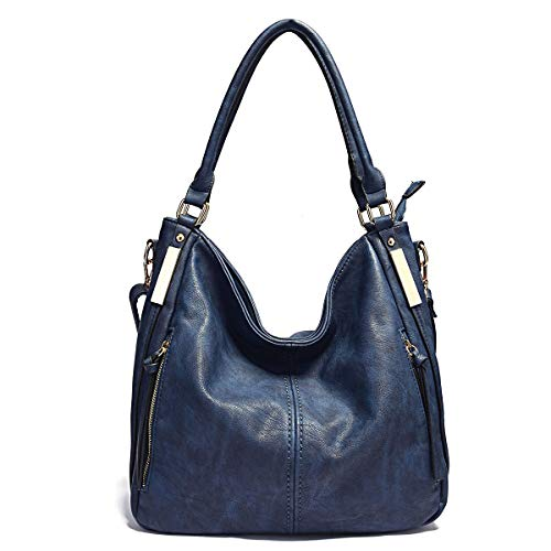 Features - Top Zipper Closure, with 2 Side Zipper Pockets Design with Tassels Decoration, Fashionable and Practical Hobo Handbags for Women. Material - High quality PU leather, Reinforced shoulder strap, Durable zipper, Golden Hardware. Pockets - Ext...