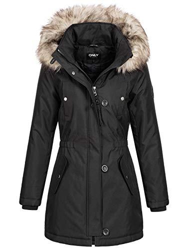 Only ONLIRIS Fur Winter Parka CC OTW Veste, Black,...