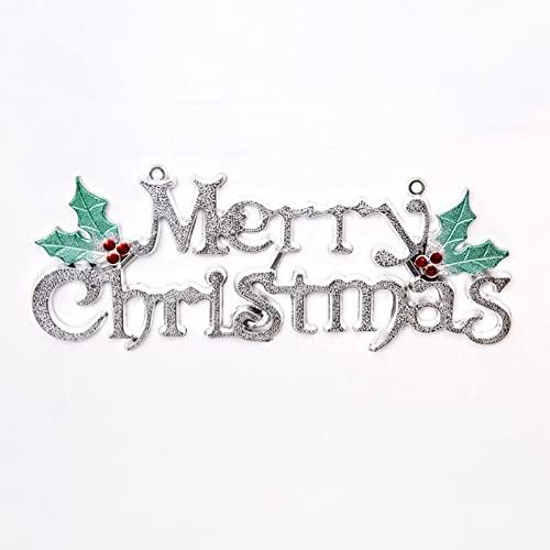 XXIXXV Señal de Navidad Feliz Navidad Cartel de plástico Recorte Letrero 3D...