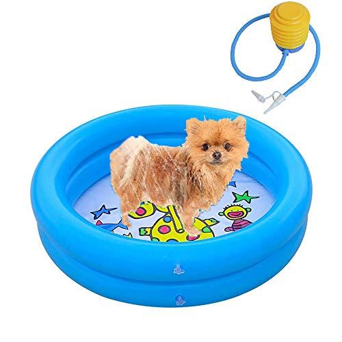 PETHOMEL Hundebadewanne Hundepool Badewanne Swimmingpool Wasserbecken Für Hunde Zusammenklappbar Hund Katze Badewanne Für Kleine & Große Hunde,Blau