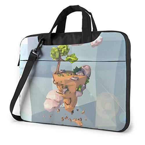 Laptop Shoulder Bag 14 Inch, Floating Island Briefcase Protective Bag