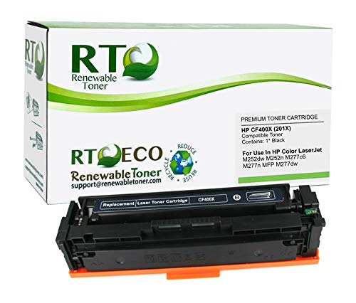 Renewable Toner Compatible High Yield Toner Cartridge Replacement for HP CF400X 201X Laserjet Pro MFP M277n M252 (Black)