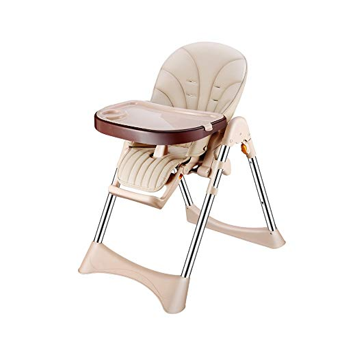 Amazing Deal DUWX - Folding High Chair, with 3-Position Adjustable Backrest and Pedal, Portable Mult...