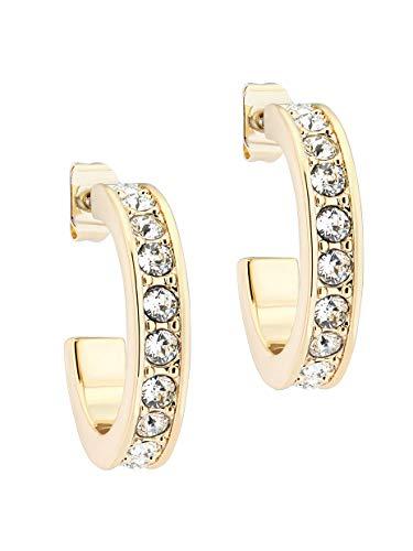 Ted Baker Seanna Small Crystal Hoop Earrings Gold Tone/Crystal