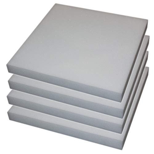 PERLARARA - Juego de 6 piezas de espuma para relleno de cojines, sofás, sillas, palés y sofás - Espuma para relleno de 50 x 50 x 5 cm, también por metro