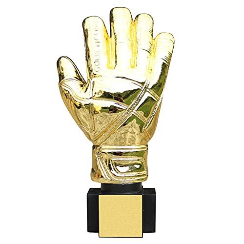 LHGXQ-Dp Champions League Football Mejor Trofeo De Guante Dorado De Portero, Recuerdo De Campeón De Trofeo De Resina De 10.2 * 5.1 Pulgadas, Decoraciones para,Oro,26 * 13CM