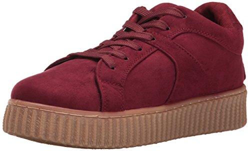 Qupid Damen Rematch-04a Fashion Sneaker, burgunderfarben, 37.5 EU