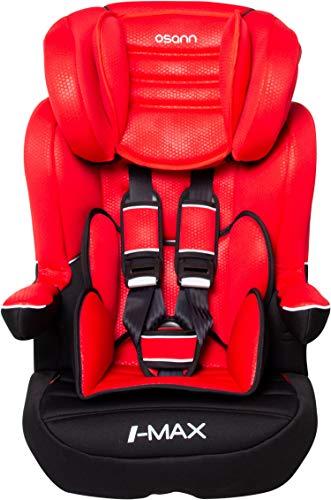 Osann 102-123-265 Kinderautositz I-Max SP ohne Isofix Gruppe 1/2/3 (9-36 kg) Luxe Rouge