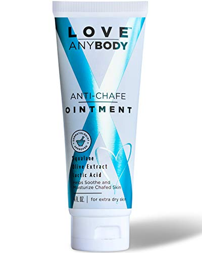 Love AnyBody Anti-Chafe Cream Ointment   Dermatologist Approved Chafe Relief   Natural, Unscented   Aluminum, Paraben, Phthalate + Cruelty Free   Skin Protectant   Squalene, Olive Extract, Lactic Acid