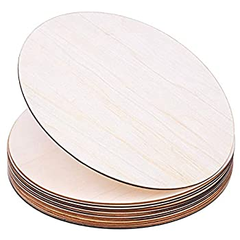 Wood Circles for Crafts Audab 12 Pack 12 Inch Unfinished Wood Rounds Wooden Cutouts for Crafts Door Hanger Door Design Wood Burning