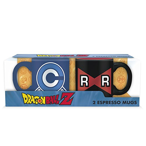 ABYstyle - DRAGON BALL - Set 2 mini-Tazas - 110 ml - Capsule Corp VS Ruban Red