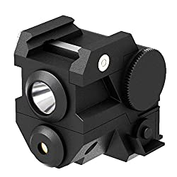 professional Laspur USA Mini Tactical Subcompact Laser Sight with Rail Mount and High Light Output CREE LED Flashlight …