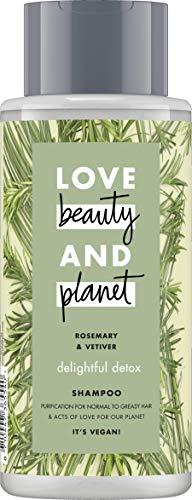 Love Beauty And Planet Delightful Detox Shampoo, für normales und fettiges Haar Rosemary und Vetiver silikonfrei, 1 Stück (400 ml)