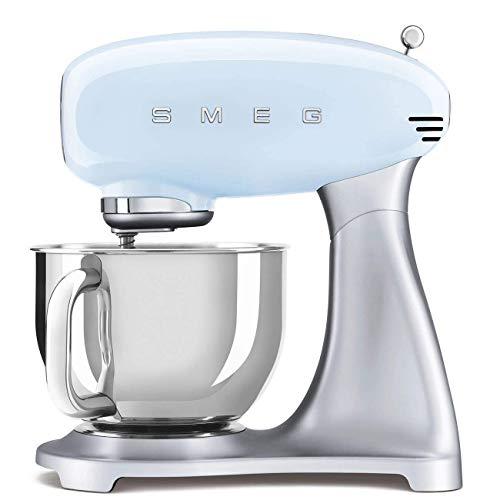 Smeg SMF02PBEU SMF02PBEU-Robot da Cucina, 4,8 l, Colore: Blu Pastello, Acciaio 18/10