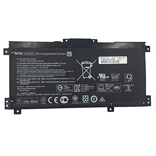 Dentsing 11.55V 55.8Wh/4835mAh 3-Cell LK03XL HSTNN-UB7I Laptop Battery Compatible with HP Envy 17M X360 15-BP000 BP001TX BP012DX BQ1XX15-CN1004TX Series Notebook TPN-W127/W128 916368-541