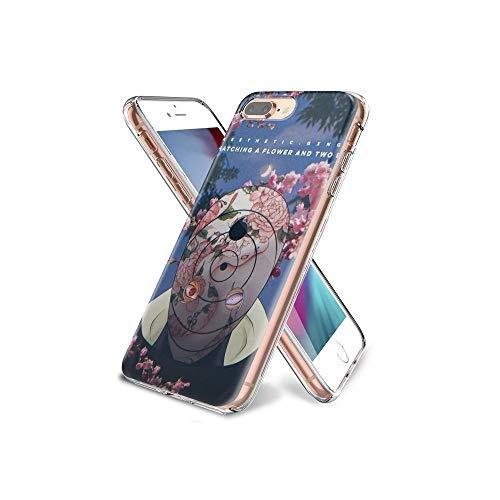 YilNGUN CC iPhone 7 Plus Covers, iPhone 8 Plus Covers, Gel Trasparente Cristallino (Custodia) [Slim-Fit] [Anti-graffio] [Design Pattern] per iPhone 7 Plus/iPhone 8 Plus CYlG#009