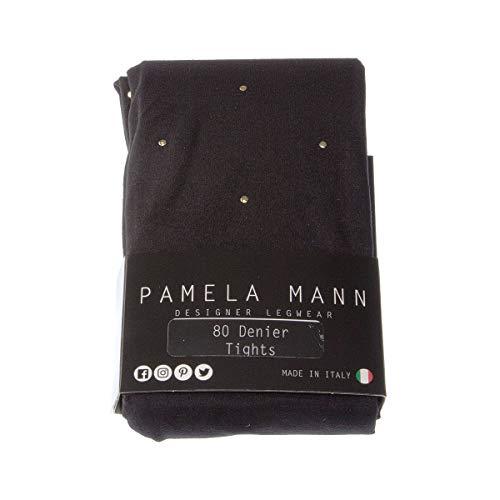 Panty's, warm, 1 paar, fantasie, zeer ondoorzichtig, mat, inzetstuk, polyamide, nylon, goudkleurig