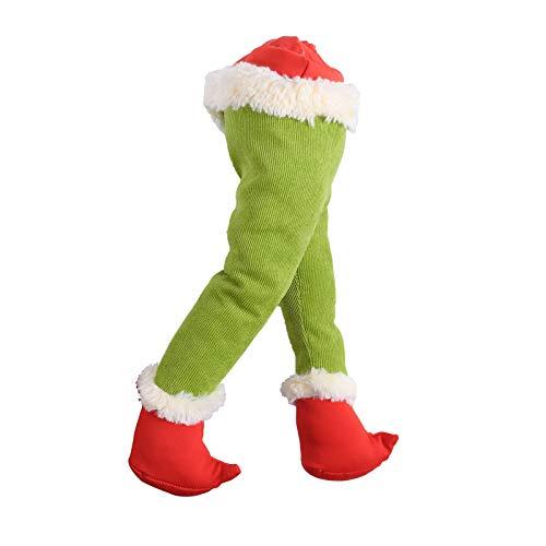 NINGSANJIN Weihnachtsdekorationen 15.7 Zoll Türkranz Weihnachten Weihnachtsdeko Kranz deko Wie der Grinch den Weihnachtskranz tür aus Sackleinen gestohlen hat