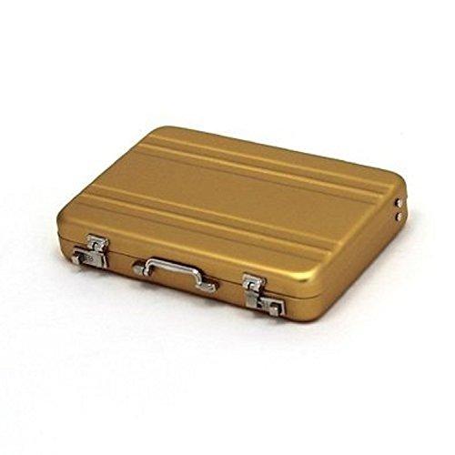 DIDA アルミアタッシュケース 型 名刺入れ カードケース や メディアケース にもOK (ゴールド)
