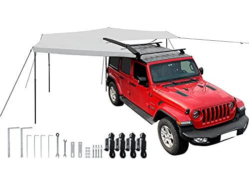 Leaveshade Car Awning Heavy Duty Retractable SUV Rooftop Umbrella Tent ● 2500 mm or 8'3'' Radius ● Innovated Premium Material & Accessories ● Waterproof, UV, 30oz Vinyl Case