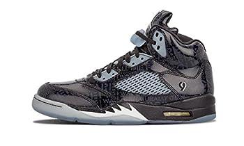 Nike Mens Air Jordan 5 Retro DB Doernbecher Black/White-Black Leather Size 8