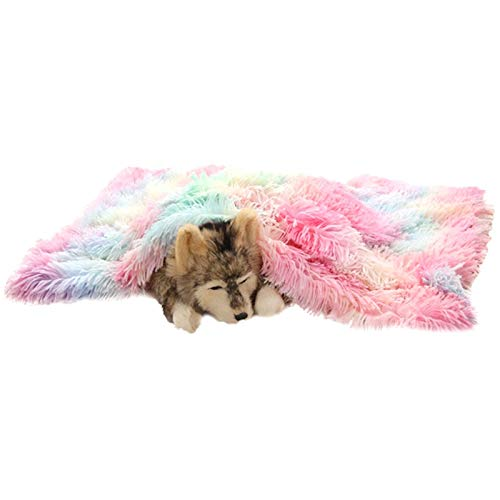 LRHYG Dog Blanket Pet Blanket Dog Blanket Soft Dog Bed Basket Dog Blankets For Dogs Mat Dog Mattress Pet Pets Beds Small Dog Houses Mat Pets Bed Colorful powder, Size : 100x73x2cm