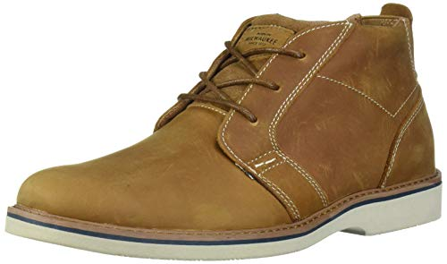 Nunn Bush Men's Bromley Plain Toe Chukka Boot Suede Leather with Comfort Gel and Memory Foam, Tan Crazy Horse, 12 Medium