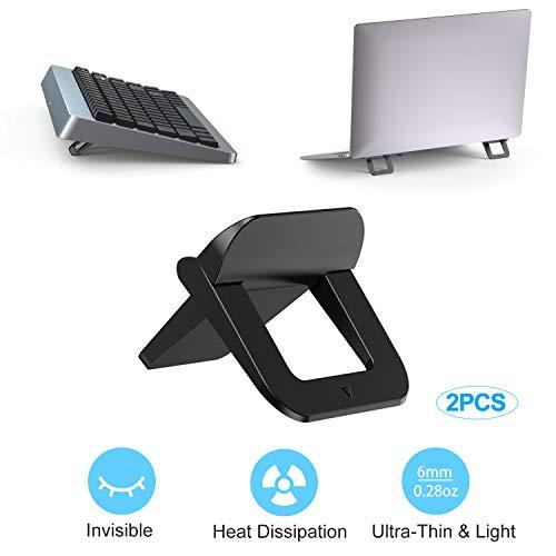 TENSUN Mini Laptop Stand, Draagbare Opvouwbare Laptop Stand Onzichtbare Koeling Laptop Stand, Ergonomische Lichtgewicht Houder Mount voor Laptop, MacBook, Draadloos Toetsenbord, 12-17 inch