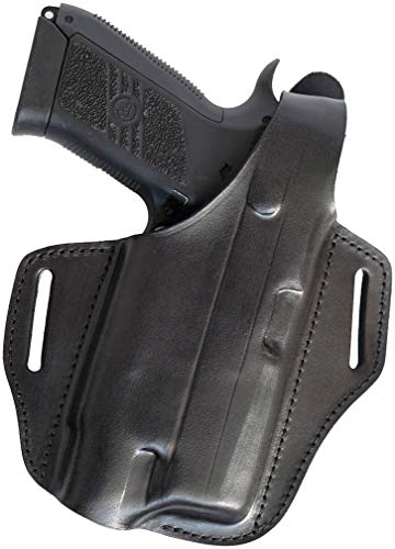 Craft Holsters CZ 75 SP-01 Compatible Holster - TLR-4 Leather Belt Holster (34L/TLR 4-BLK)