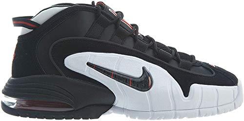 Nike Herren Air Max Penny Basketballschuhe, Mehrfarbig (Black/Black/White/University Red 003), 40.5 EU