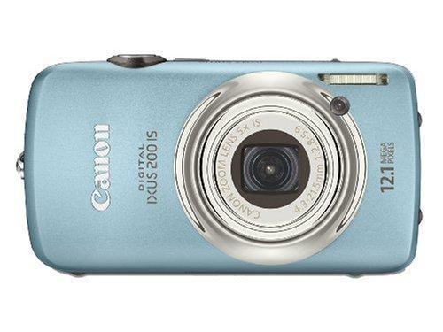 Canon Digital IXUS 200 IS Digitalkamera (12 MP, 5-fach opt. Zoom, 7,6cm (3 Zoll) TOUCH-Display, HDMI, 24mm Weitwinkel) blau