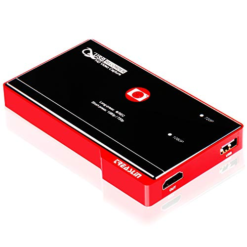 TreasLin Screen Capture Recorder, 1080P HDMI to USB Game Recorder,One-Click Recording, Screen Recorder Compatible with TV Box Xbox One PS4 Wii U Switch School lectures,No PC Required…