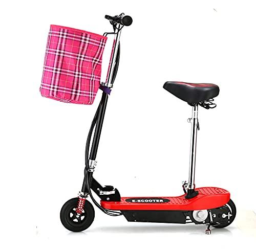 Patinete EléCtrico Electric Scooter Hoverboard Auto Equilibrio Ligero y Plegable con Asiento AleacióN de Aluminio Altura Ajustable