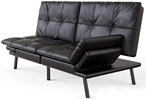 Best Futon Sofa Bed Memory Foam Couch Sleeper Daybed Foldable Convertible Loveseat Black
