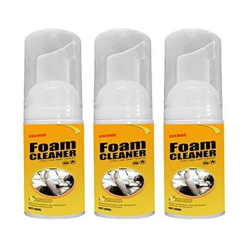 Limpiador de cuero para coche, 30 ml, acondicionador de piel no tóxica, uso en bolsas de cuero, zapatos de muebles, protección UV, limpiador de cuero para coches, camiones, motocicletas, 3 unidades
