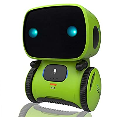 Yoego Kids Interactive Robot Toy, Intelligent Voice Controlled Touch Sensor Robotics with Repeating, Voice Recording, Singing, Dancing, and Speech Recognition, Best Partner for Boys Girls
