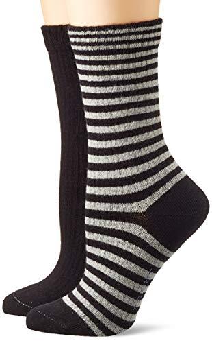 ESPRIT Damen Sporty Stripe 2-Pack W SO Socken, Schwarz (Black 3000), 39-42 (UK 5.5-8 Ι US 8-10.5) (2er Pack)