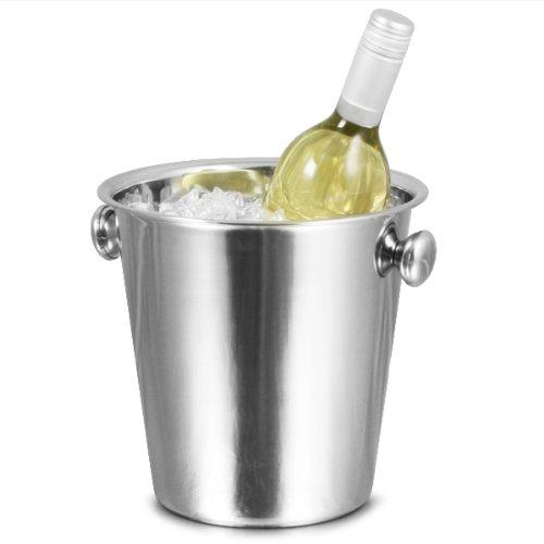 bar@drinkstuff Secchiello per ghiaccio Tulip 4,3 litri, realizzato in acciaio inossidabile, perfetto per rinfrescare bottiglie di vino e champagne.
