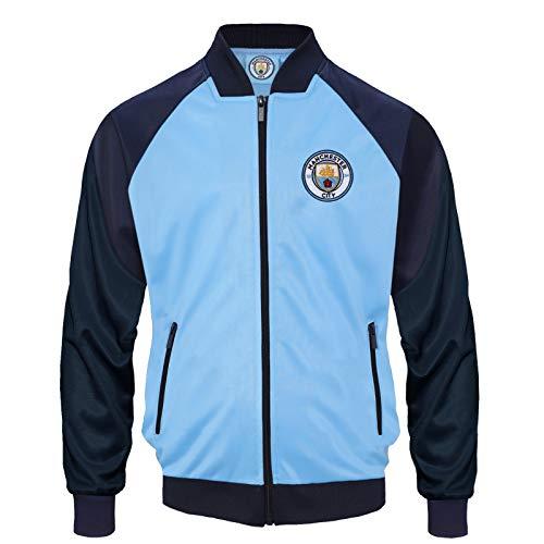 Manchester City FC - Jungen Trainingsjacke im Retro-Design - Offizielles Merchandise - Geschenk für Fußballfans - 8-9 Jahre