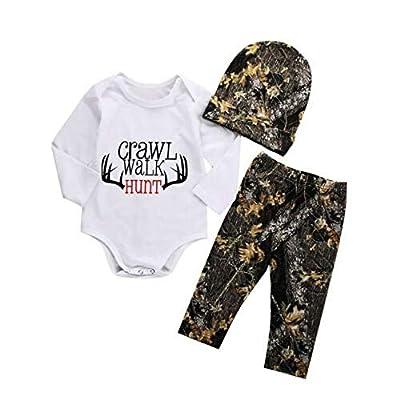 Amazon - 55% Off on Newborn Baby Boy Girl Deer Romper Pants Leggings Hat 3pcs Outfits Set Costume
