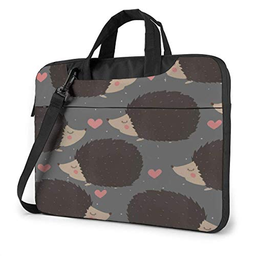 Laptop Bag Hedgehog Love Heart Protective Laptop Carrying Bag with Strap and Handle Laptop/Notebook for Business 13 inch